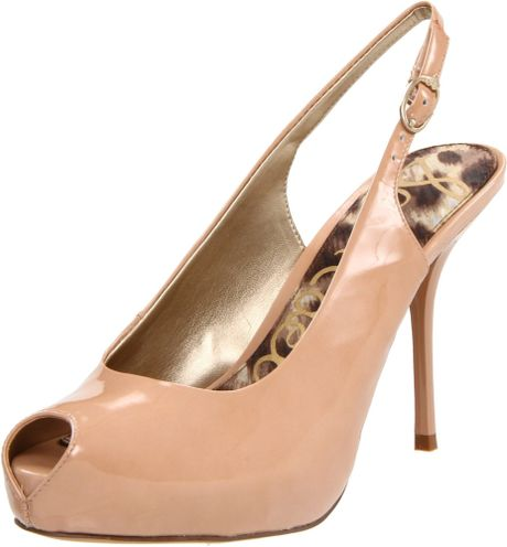 Sam Edelman Sam Edelman Womens Evelyn Opentoe Pump in Pink (new blush) - Lyst