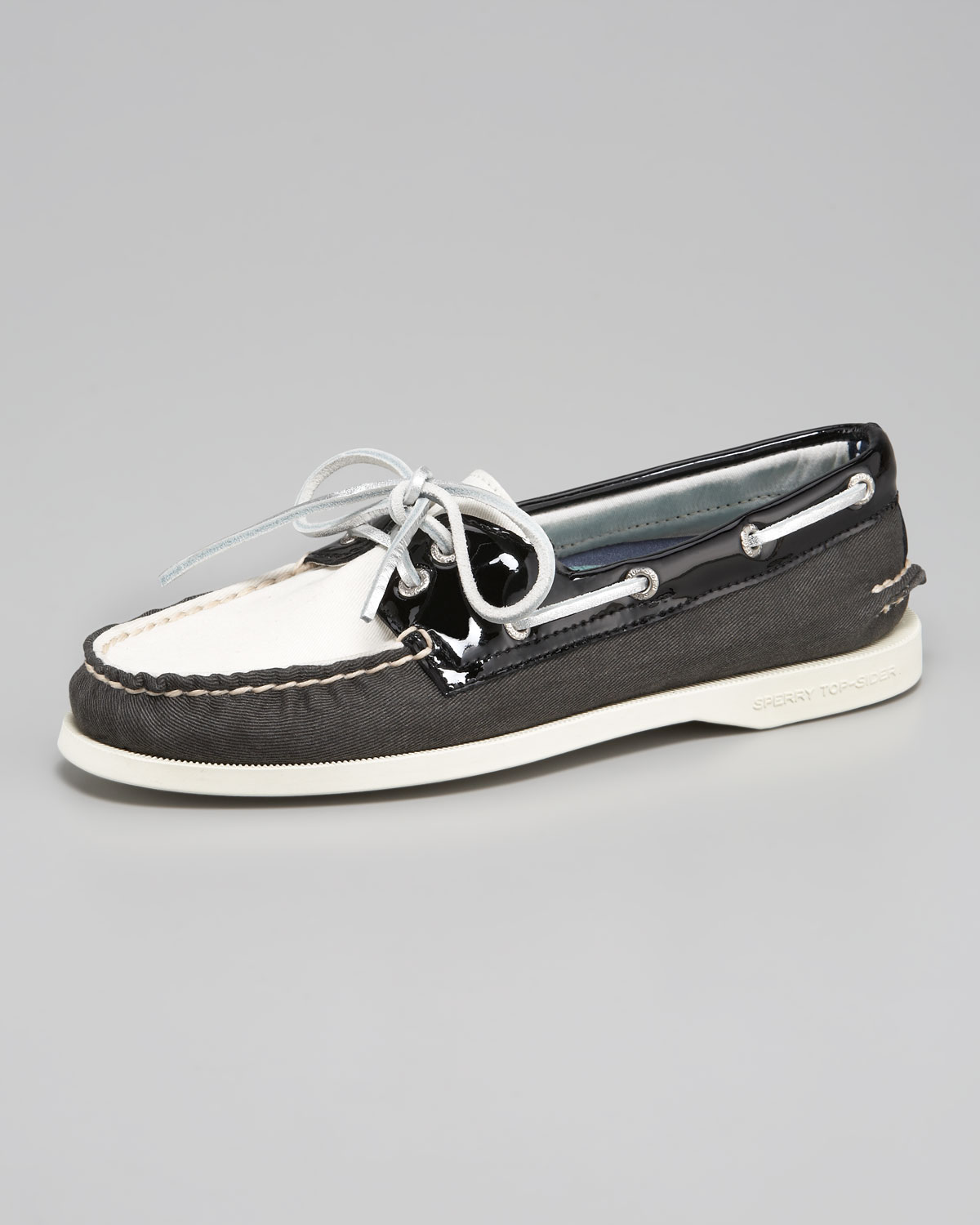 sperry top sider authentic original two tone boat shoe in