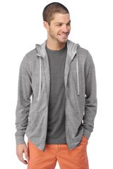 Splendid Vintage Fleece Zip Up Hoodie - Lyst