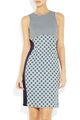 Stella Mccartney Madison Printed Stretchjersey Dress in Blue (ink) - Lyst