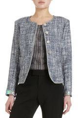 Theyskens' Theory Tweed Hologram Trim Jacket - Lyst