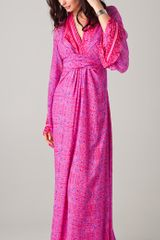 Winter Kate Winter Kate Kamakura Maxi Dress in Printed Silk - Lyst