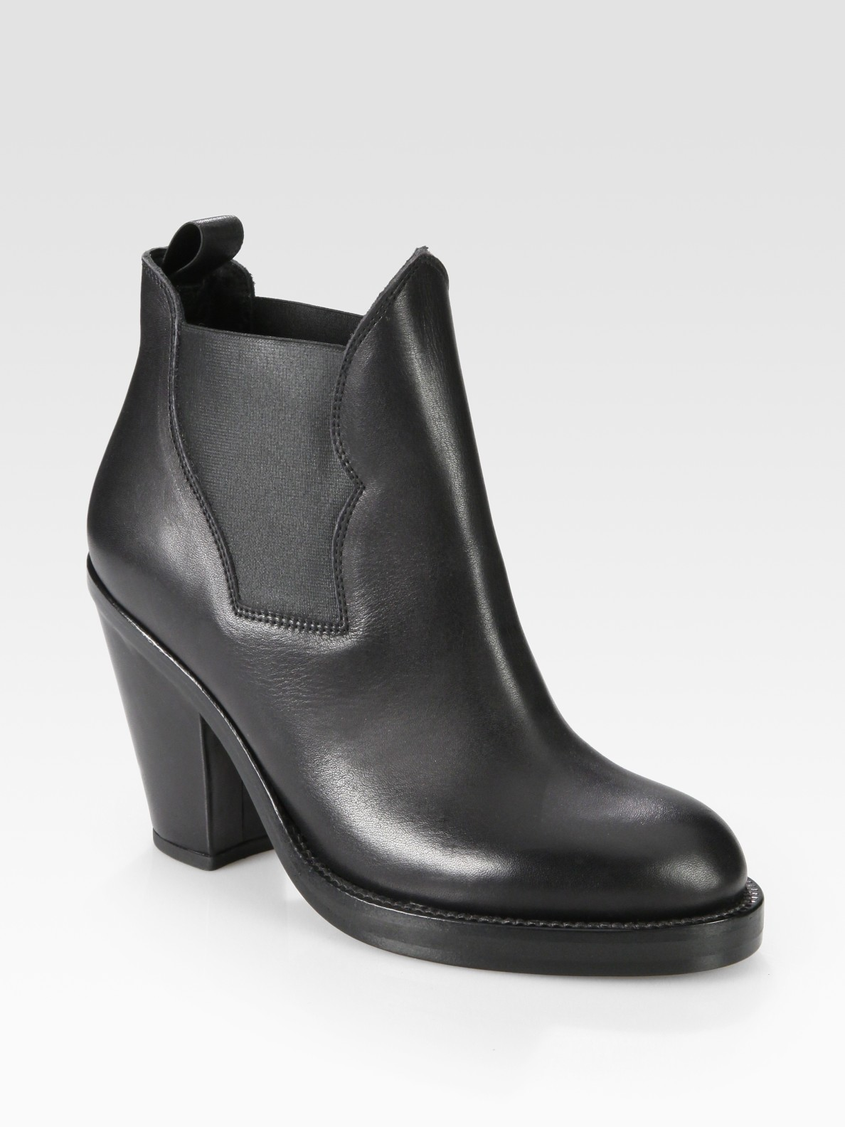 acne studios star stretchy leather ankle boots in black lyst. Black Bedroom Furniture Sets. Home Design Ideas