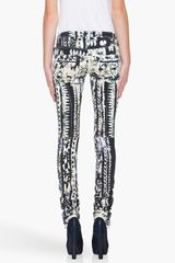 Balmain Star Print Jeans in Black - Lyst