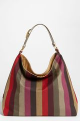 Fendi Pequin Canvas Hobo Bag - Lyst