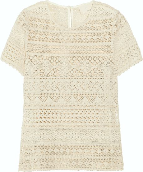 Girl. By Band Of Outsiders Cerise CottonLace Top in Beige (cerise) - Lyst