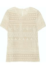 Girl. By Band Of Outsiders Cerise Cotton-Lace Top