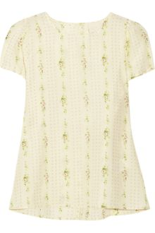 Girl. By Band Of Outsiders Carla Printed Silk Top - Lyst