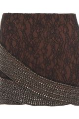 Haute Hippie Lace Skirt - Lyst