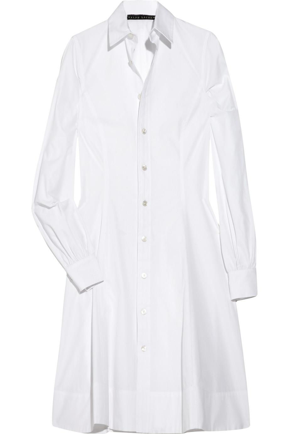 d382faf858 Ralph Lauren Black Label Hilda Cotton Shirt Dress in White - Lyst