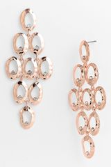 Tasha Crystal Accent Chandelier Earrings - Lyst