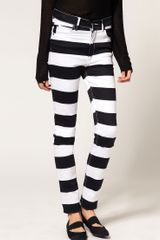 Cheap Monday Stripe Skinny Jeans - Lyst
