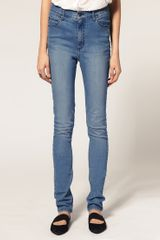 Cheap Monday High Waist Skinny Jeans - Lyst