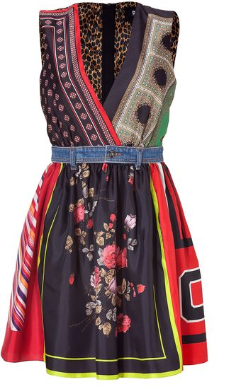 D&G Multicolor Silk Dress - Lyst