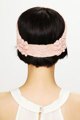 Free People Tatty Floral Gauze Headwrap in Pink (blush) - Lyst