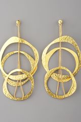 Herve Van Der Straeten Multicircle Earrings