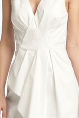 Rachel Roy Origami Cascade Dress in Beige (natural white) - Lyst