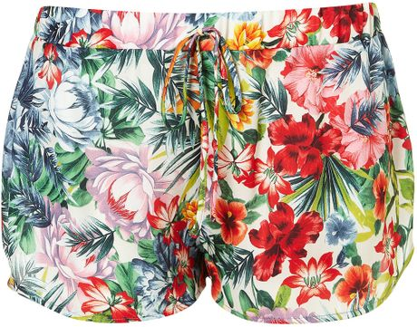 Topshop Tropical Floral Print Runners in Multicolor (multi) - Lyst