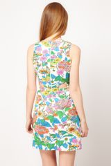 Asos Collection Asos Dress in Floral Print with Cut Outs in Floral (creamprint) - Lyst