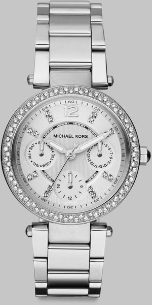 Michael Kors Swarovski Crystal Accented Multifunction Watchstainless Steel - Lyst