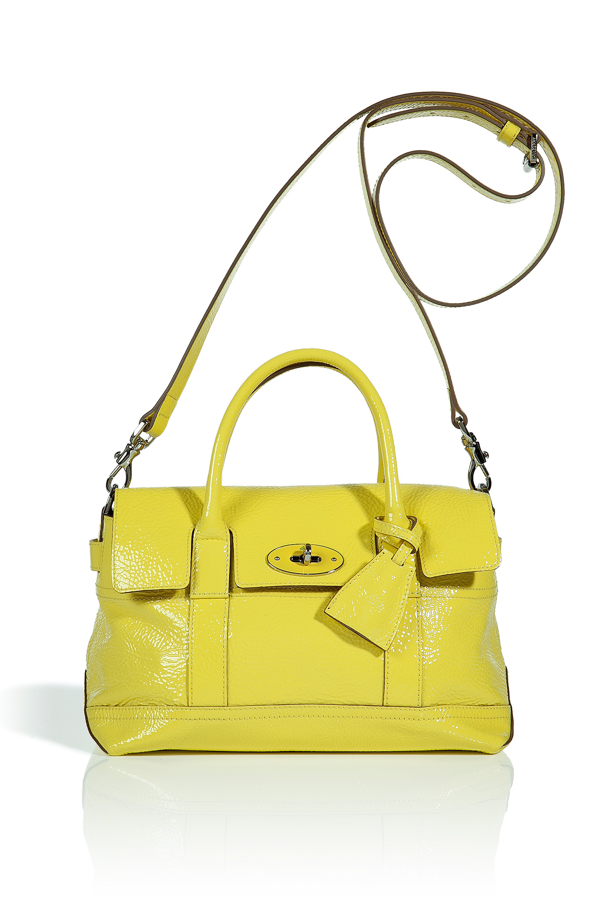 a336031fb6 ... discount lyst mulberry lemon sherbet small holiday bayswater satchel in  yellow 9eed7 be6ab