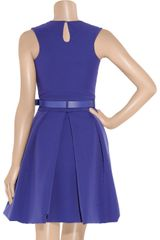 Preen Grace Pleated Stretchcrepe Dress in Purple - Lyst
