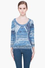 Rag & Bone Blue Jasmine Sweater - Lyst