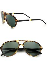 Ralph Lauren Polo Mallot Aviator Sunglasses - Lyst
