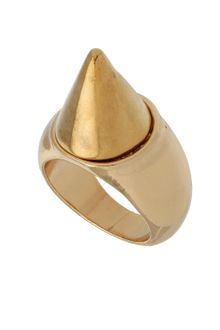 Topshop Metal Spike Ring - Lyst