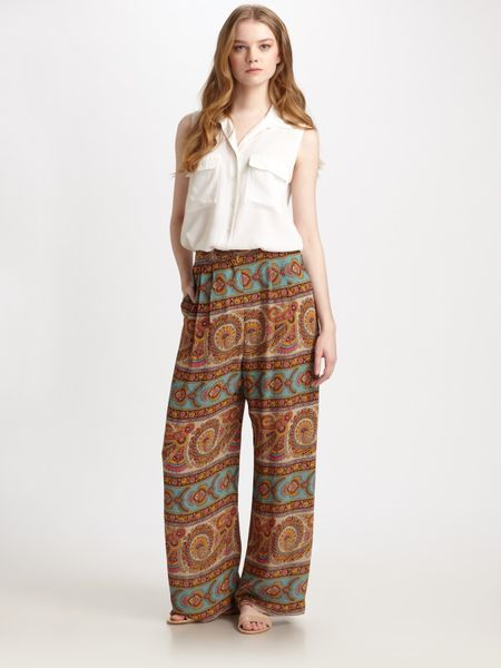 Zimmermann Tender Paisley Pants in Blue (black) - Lyst
