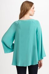 Zimmermann Silk Flare Top in Blue (grey) - Lyst
