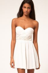 ASOS Collection Asos Skater Dress with Embellished Trim - Lyst