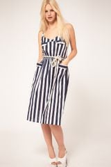 ASOS Collection Asos Stripe Midi Dress with Pockets - Lyst