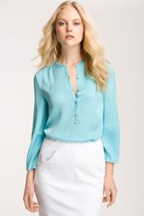 Diane Von Furstenberg Whista Stretch Silk Blouse - Lyst