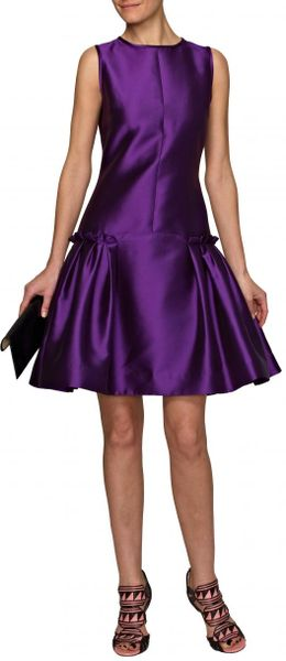 Prabal Gurung Drop Waist Dress in Purple - Lyst