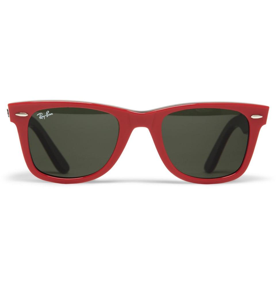 Lyst Ray Ban Original Wayfarer Sunglasses In Red For Men