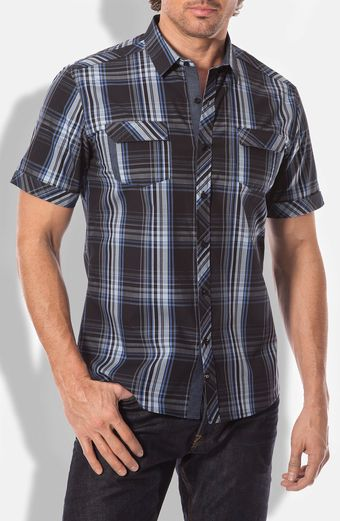 7 Diamonds Southern Nights Plaid Woven Shirt - Lyst