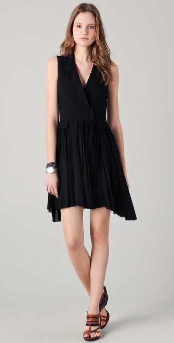 Boy by band of outsiders Sleeveless Coat Dress in Black | Lyst