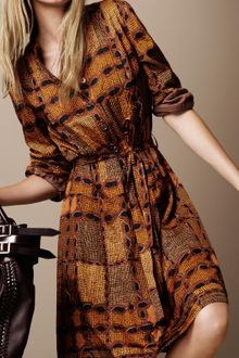 Burberry Brit Chain Print Shirt Dress - Lyst