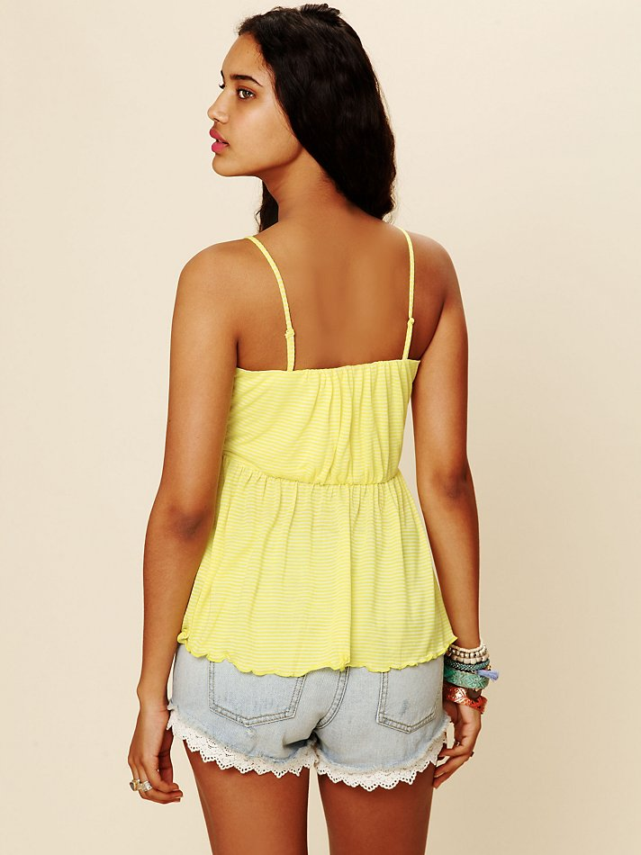 c220a283324 Lyst - Free People Striped Easy Breezy Tube Top in Yellow