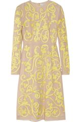 Jonathan Saunders Ariel Embroidered Cotton Mesh Dress - Lyst