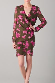Kevork Kiledjian Print Wrap Dress - Lyst