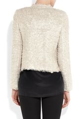L'agence Bouclé Tweed Jacket in Beige (natural) - Lyst