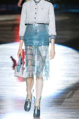 Marc Jacobs Elsa Fringed Tulle Skirt in Blue - Lyst