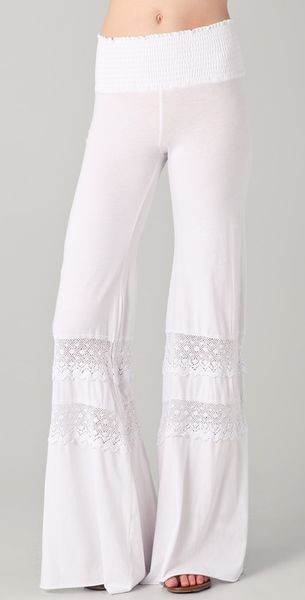 Nightcap Smocked Crochet Beach Pant in White - Lyst