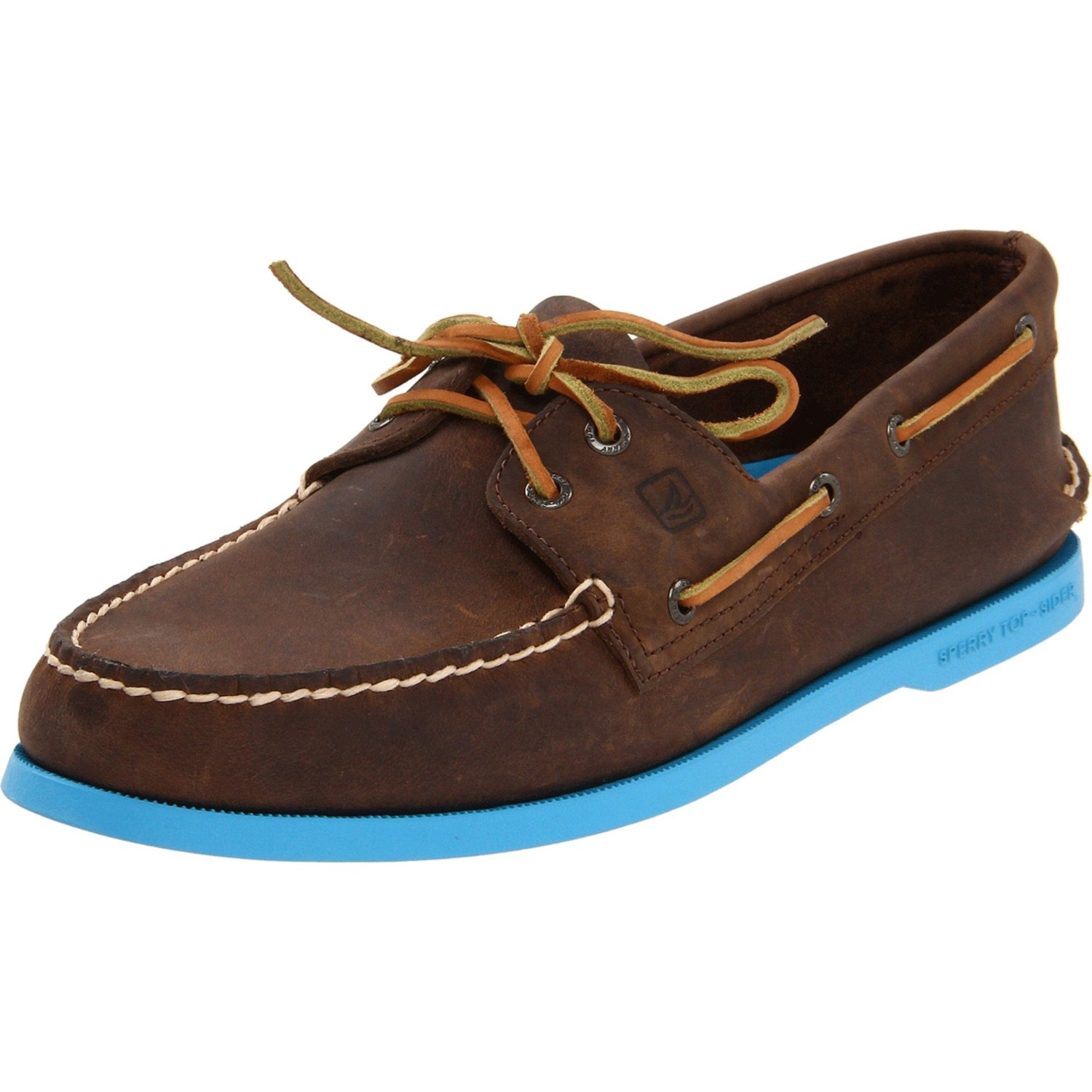 Blue Brown Boat Shoes