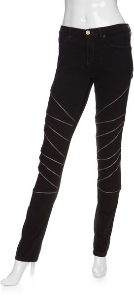 Superfine Midrise Skinny Jean with Exposed Zipper Detail - Lyst