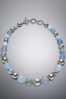 David Yurman Elements Necklace Aqua Chalcedony - Lyst
