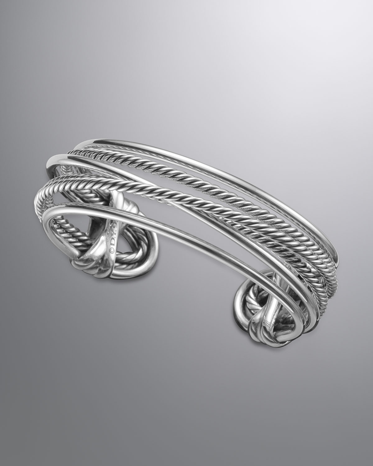 David yurman crossover bracelet sterling silver in silver for David yurman like bracelets