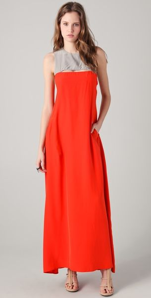 Gar-de Mosaic Sleeveless Maxi Dress in Orange - Lyst